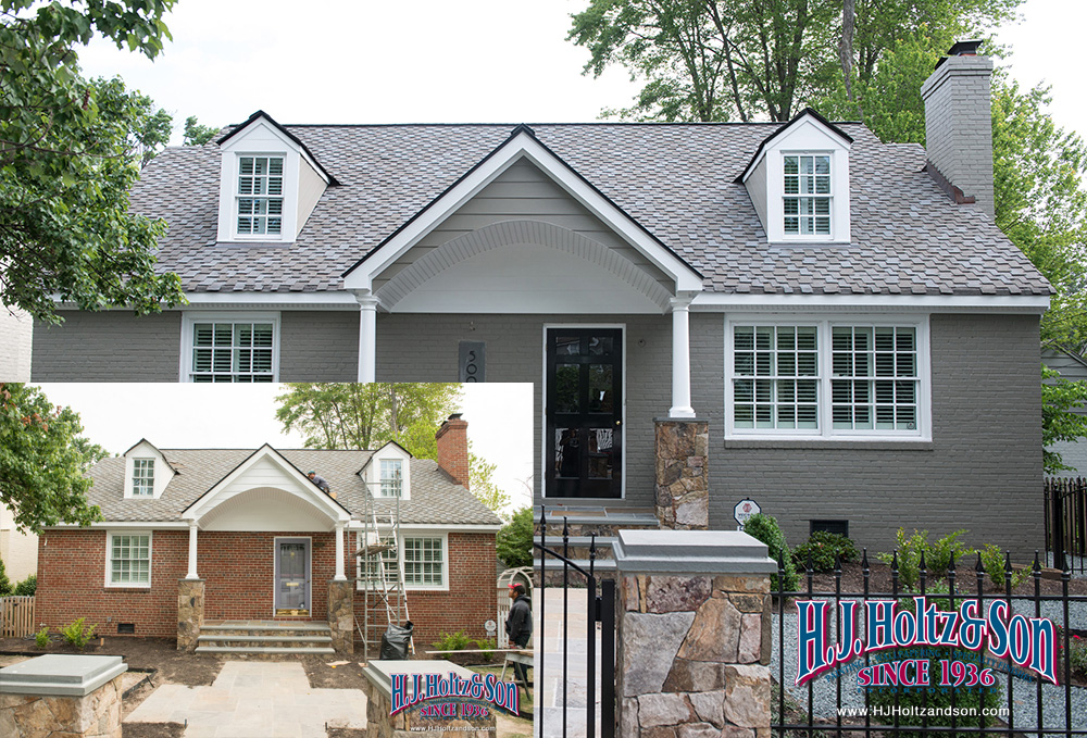 Painting exterior brick richmond va residential painter - Painted brick exterior pictures set ...